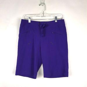 Athleta Purple Bermuda Walking Shorts 4